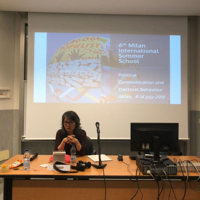 P. Moy concluding her Masterclass