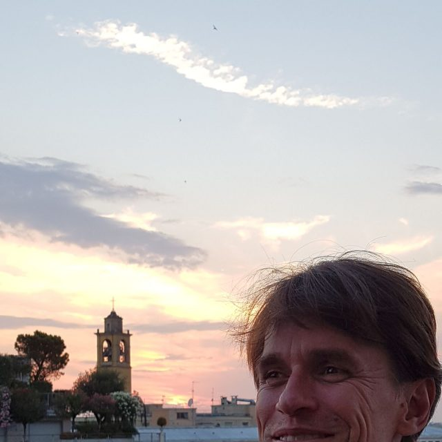 Peter Van Aelst with Milan's sunset