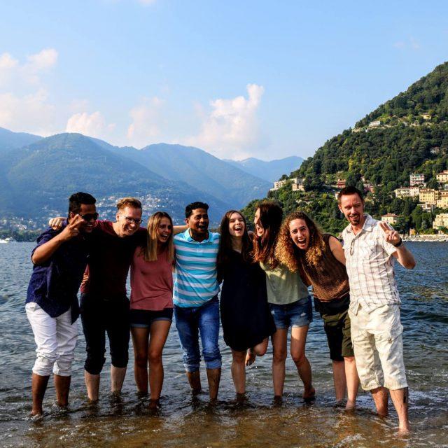PhD students gone wild — con Gergő Hajzer e Anna Sytnik Rybchak presso Lake Como - Menaggio, Italy.