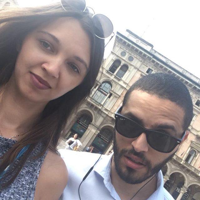 Sofya Glazunova with Abelardo Del Prado Piazza Duomo.